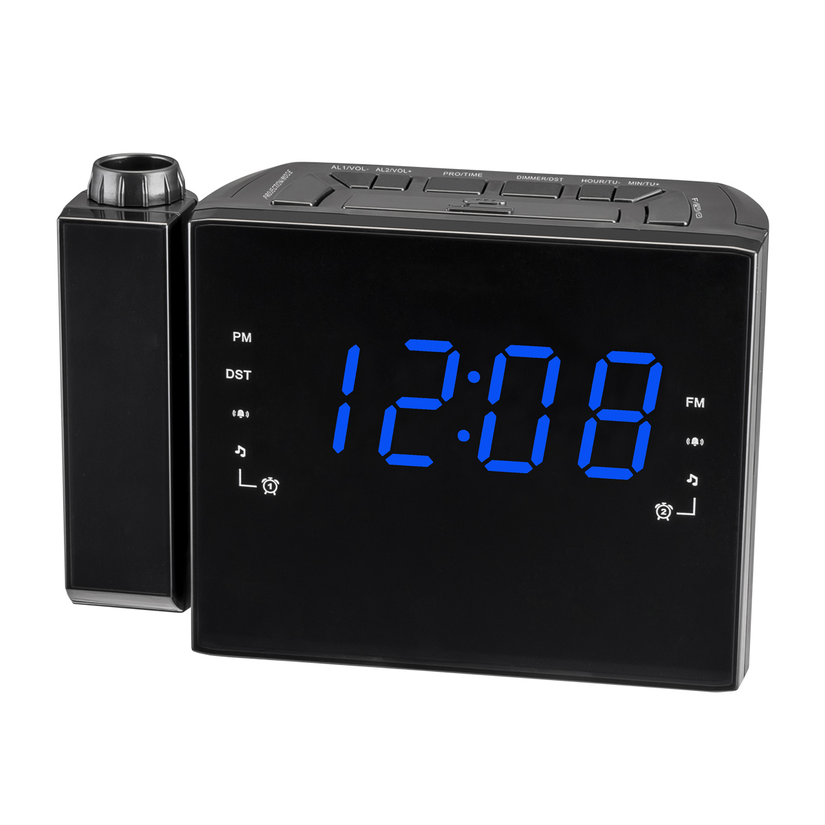 projection clock radio Rated 5 out of 5 by pace-maker from love this clock i love this projection clock i did not need an alarm clock or the radio but what i really needed was the projection capabilities of this clock.